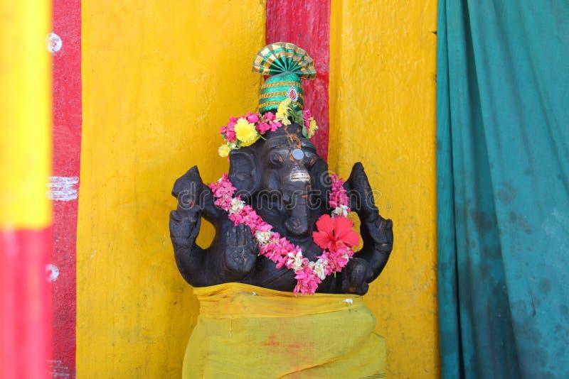 Sculpture ancienne en pierre du temple d'Airavateshwara photo stock