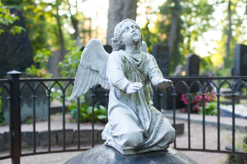Sculpture of an angel stock image