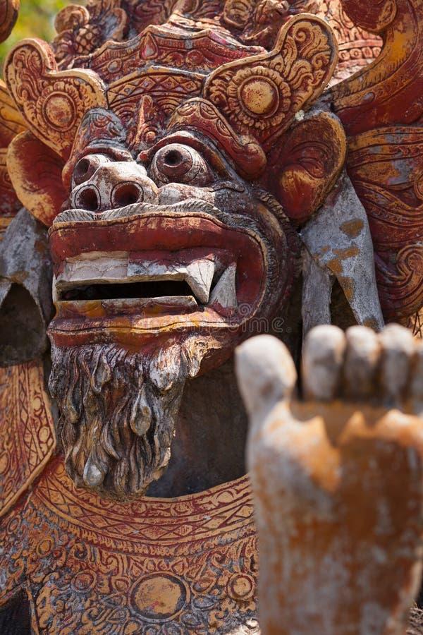 Sculpture antique du Balinese mythique Barong photos libres de droits