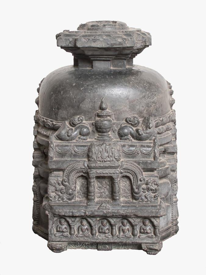 Sculpture archéologique de stupa votif de la mythologie indienne photo stock