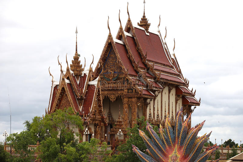 Sculpture, architecture and symbols of Buddhism, Thailand. South East Asia royalty free stock photo