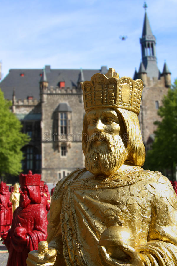 Download Sculpture art Aachen editorial stock image. Image of charlemagne - 39874769