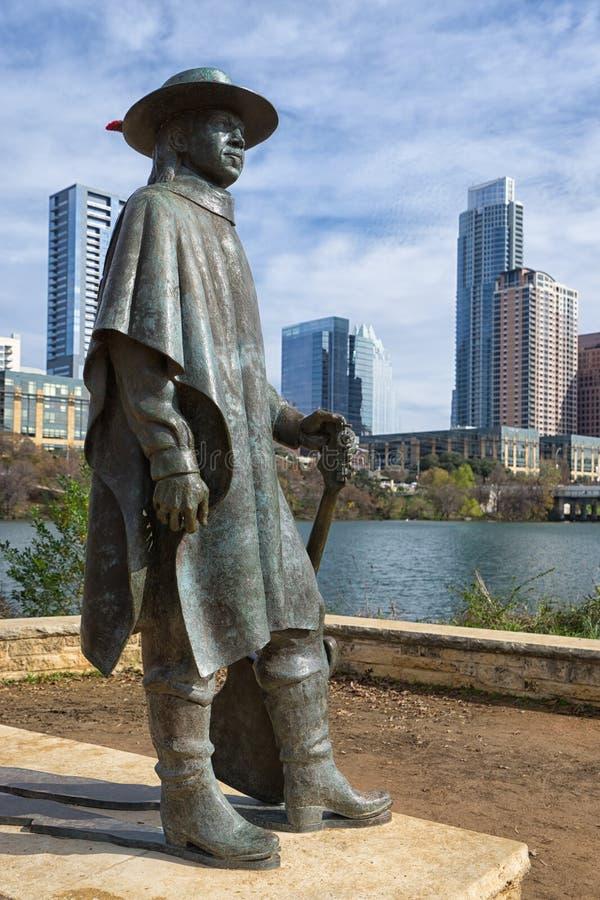 Sculpture Austin Texas en Stevie Ray Vaughan images libres de droits