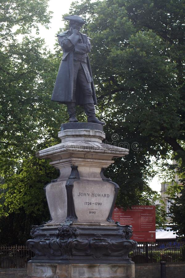 Sculpture Bedford R-U en John Howard photographie stock libre de droits