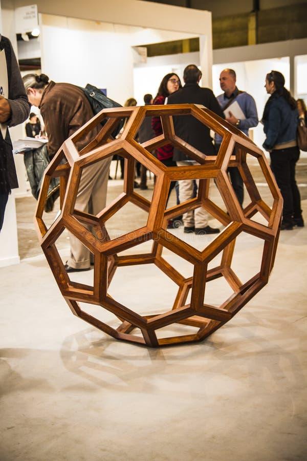 Sculpture.Begin 2014 ARCO, Art Fa contemporáneo internacional imagen de archivo