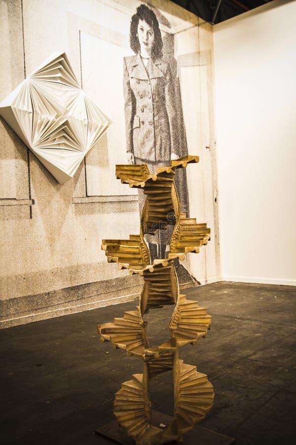 Sculpture.Begins 2014 ARCO, a arte contemporânea internacional F foto de stock royalty free