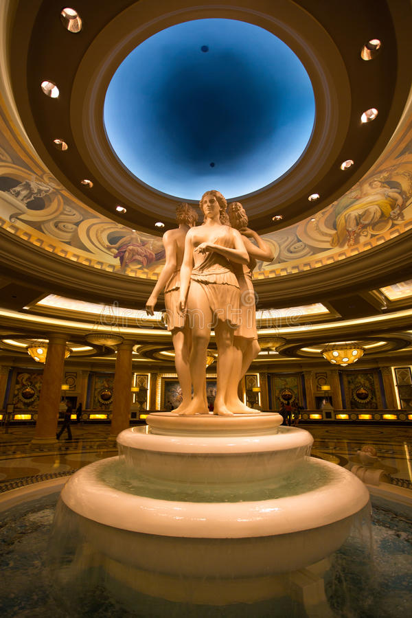 Sculpture at the Caesars Palace in the entrance hallway. LAS VEGAS, NV, SEPTEMBER 12: Sculpture at the Caesars Palace in the entrance hallway - Las Vegas, Unites royalty free stock image