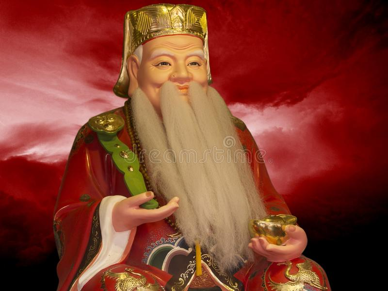 Sculpture of Chinese wise man. Confucius was a Chinese teacher, editor, politician, and philosopher of the Spring and Autumn period of Chinese history. The royalty free stock images