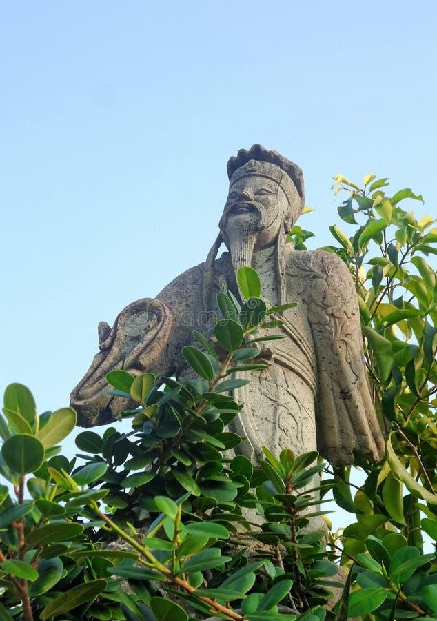 Sculpture chinoise en pierre de guerrier photos stock