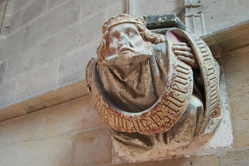 Sculpture in Cluny Abbey stock photos