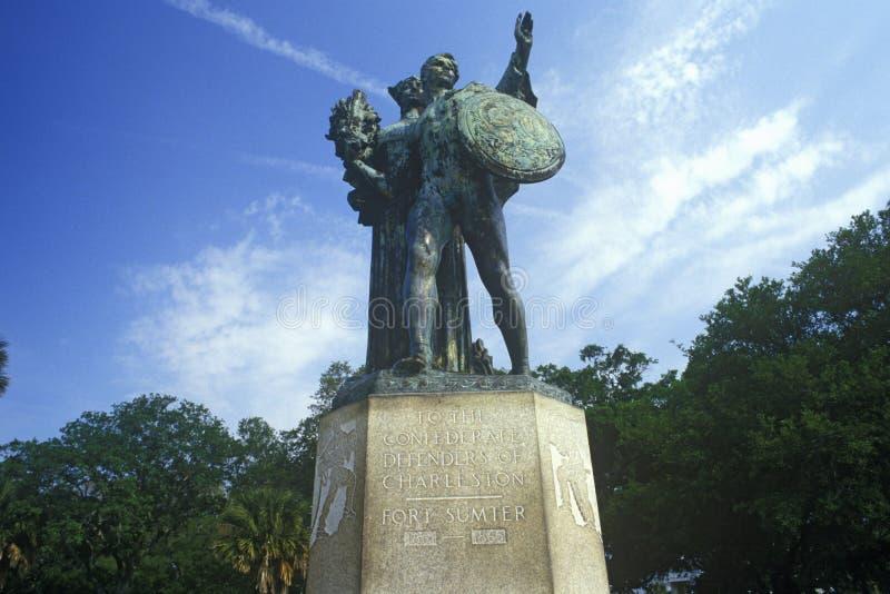 Sculpture commémorative en guerre civile à Charleston, Sc image stock