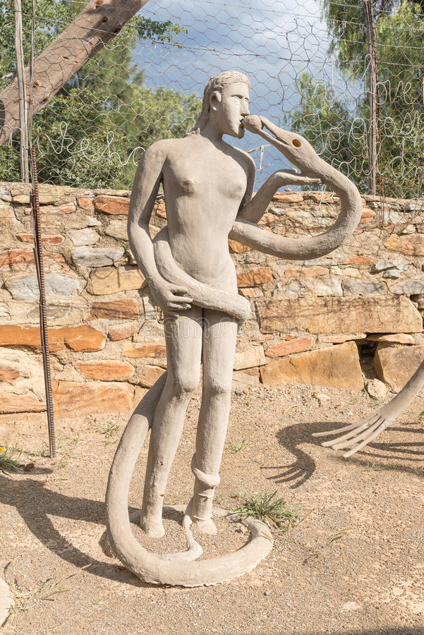 Sculpture concrète chez Owl House photos libres de droits