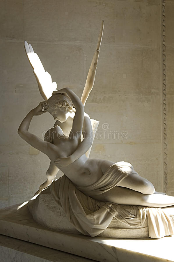 Free Sculpture Cupid And Psyche By Antonio Canova Royalty Free Stock Photos - 25406528