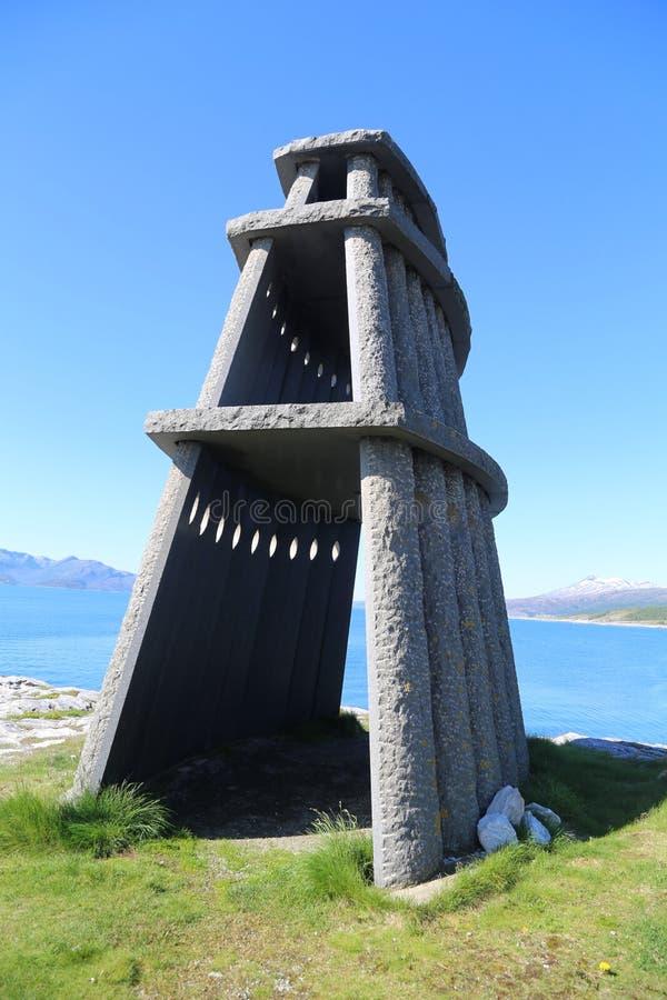 Sculpture dans Evenes photos stock