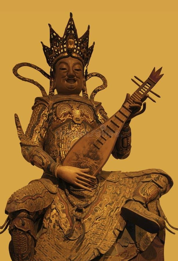 Sculpture dans Jade Buddha Temple images libres de droits
