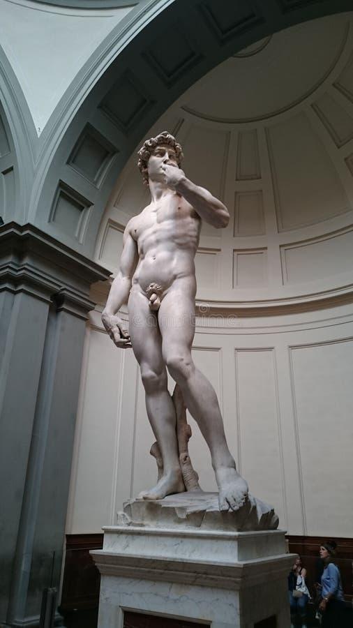 Sculpture David en marbre de buonarroti de Michaël Angelo photos libres de droits