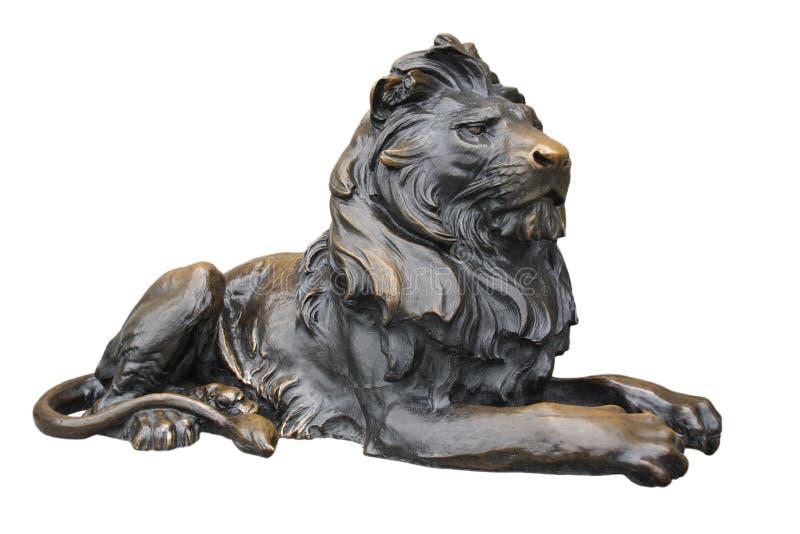 Sculpture de cuivre en lion image stock