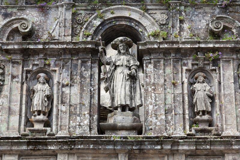 Sculpture de l'apôtre Santiago photo stock