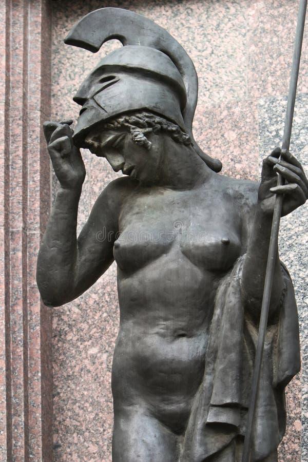 Sculpture de la déesse Athéna photos stock