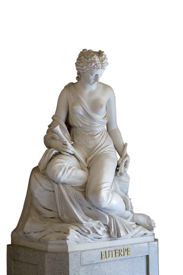 Sculpture de la muse d'euterpe photo stock