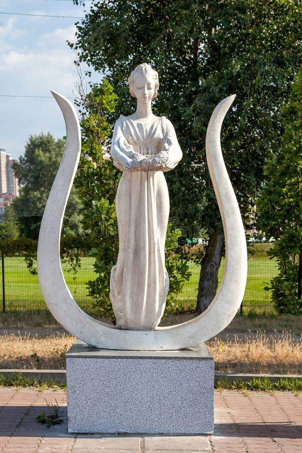 Sculpture de muse femelle image libre de droits