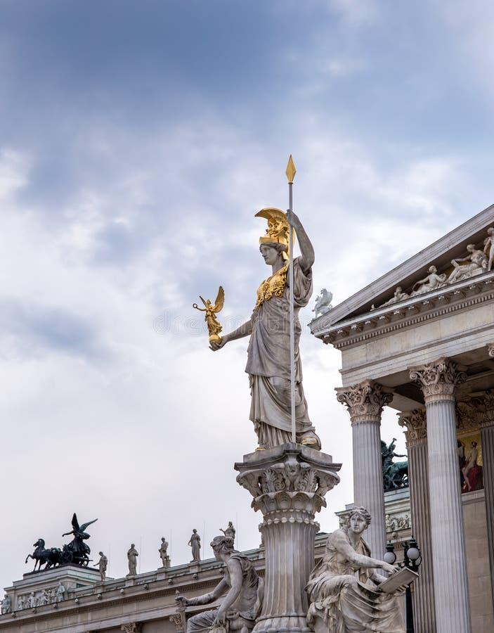 Sculpture de Pallas Athena photographie stock libre de droits