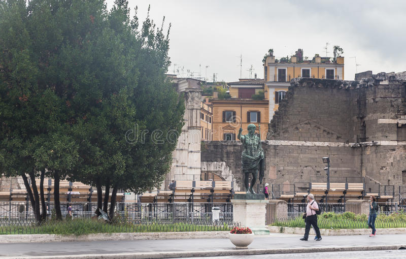 Sculpture de Roman Emperor Augustus Caesar rome photos stock