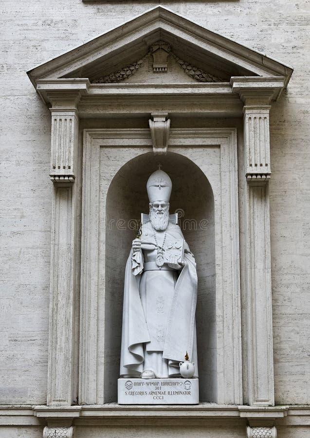 Sculpture de saint Gregorius Armeniae Illuminator photographie stock libre de droits