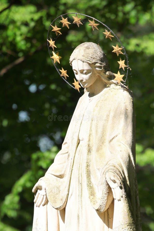 Sculpture de St Mary dans Zwierzyniec, Pologne photos stock