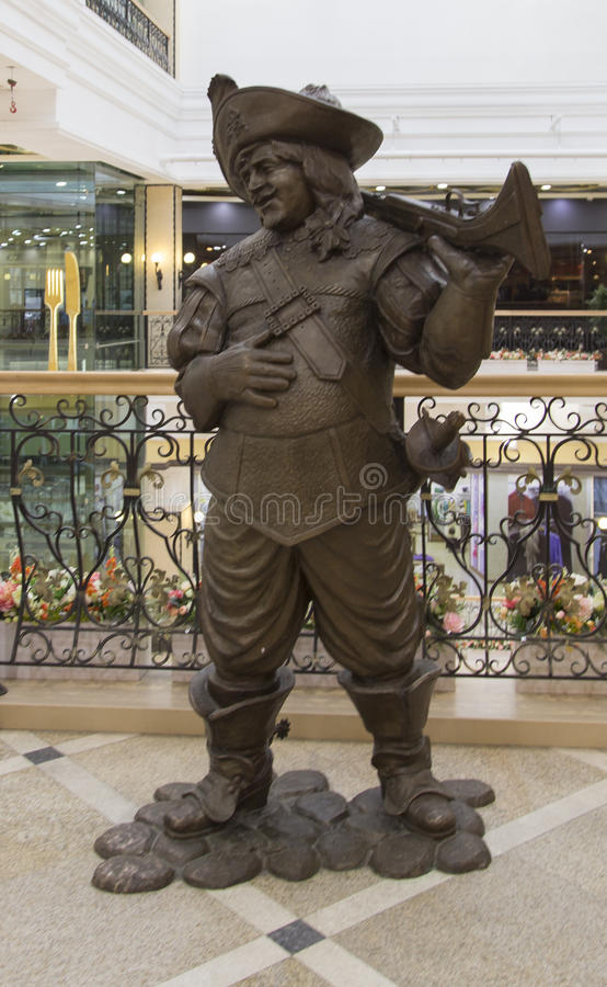 The sculpture in department store in yekaterinburg,russian federation. The sculpture in department store is taken in yekaterinburg,russian federation royalty free stock photography