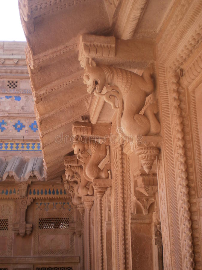 Sculpture design inside of Gwalior fort royalty free stock images