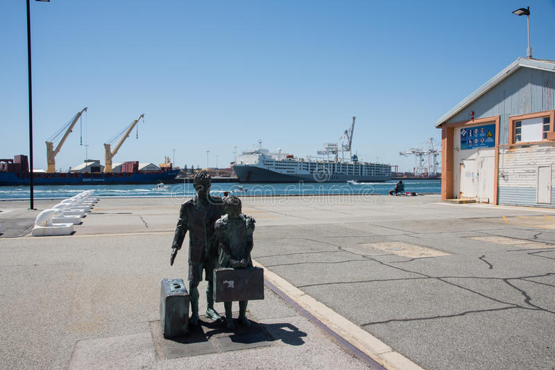 Sculpture, Dock and Warehousing royalty free stock image