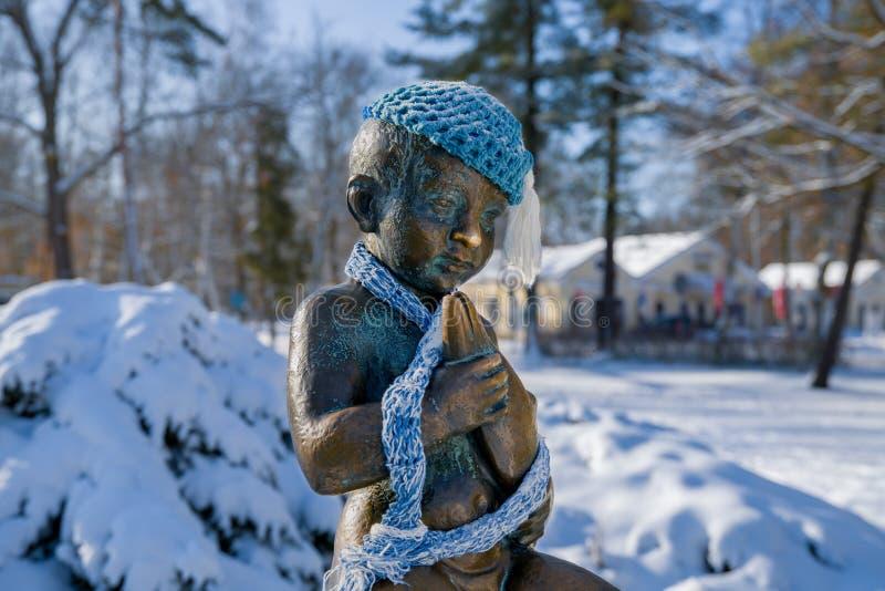Sculpture du Frantiskovy de petite taille Lazne Franzensbad - République Tchèque photographie stock