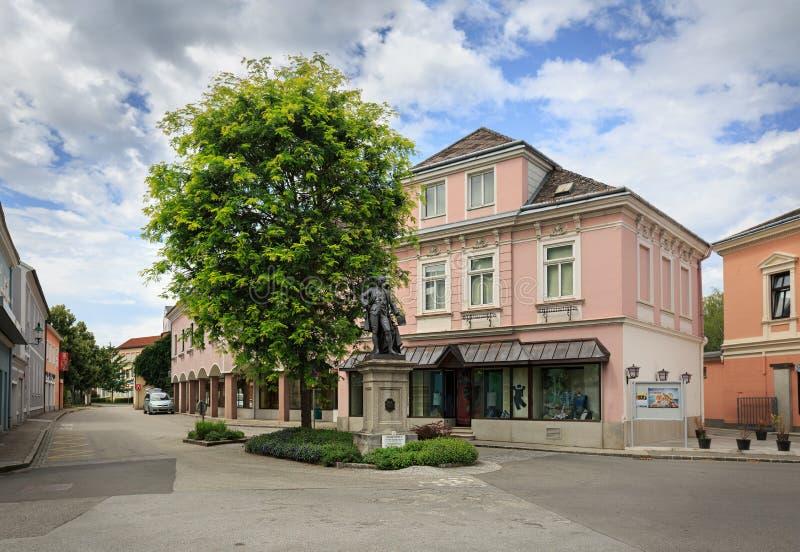 Sculpture du Kaiser Josef II Ybbs un der Donau, Basse Autriche images stock