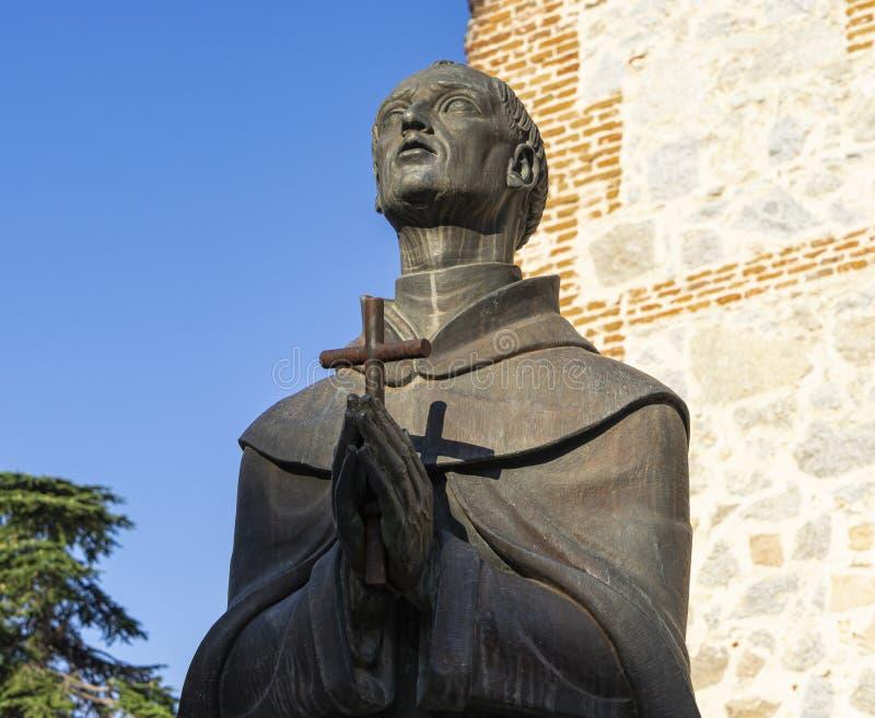Sculpture du San mystique célèbre Juan de la Cruz à Avila images stock