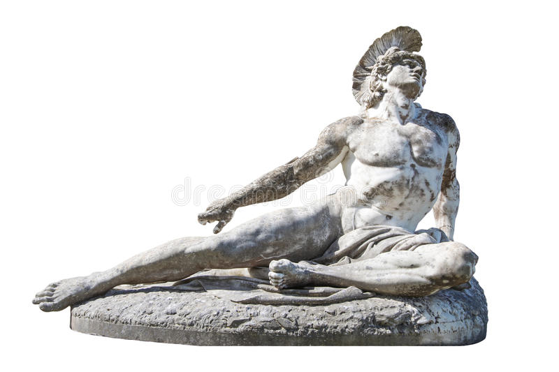 Sculpture of dying Achilles in the Achilleion/Villa Vraila on Co royalty free stock images