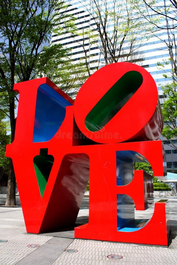 Sculpture en AMOUR dans Shinjuku photographie stock libre de droits