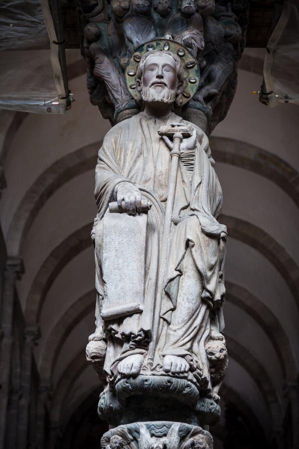 Sculpture en apôtre de Santiago photo stock