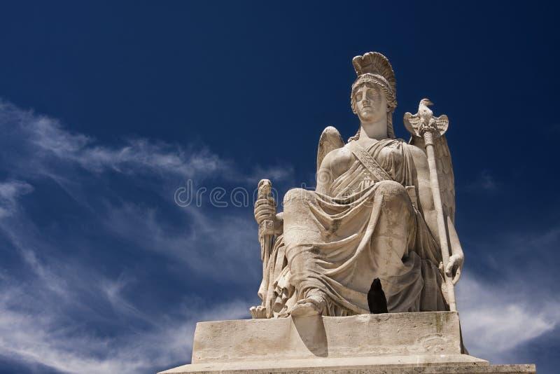 Sculpture en Athéna image stock