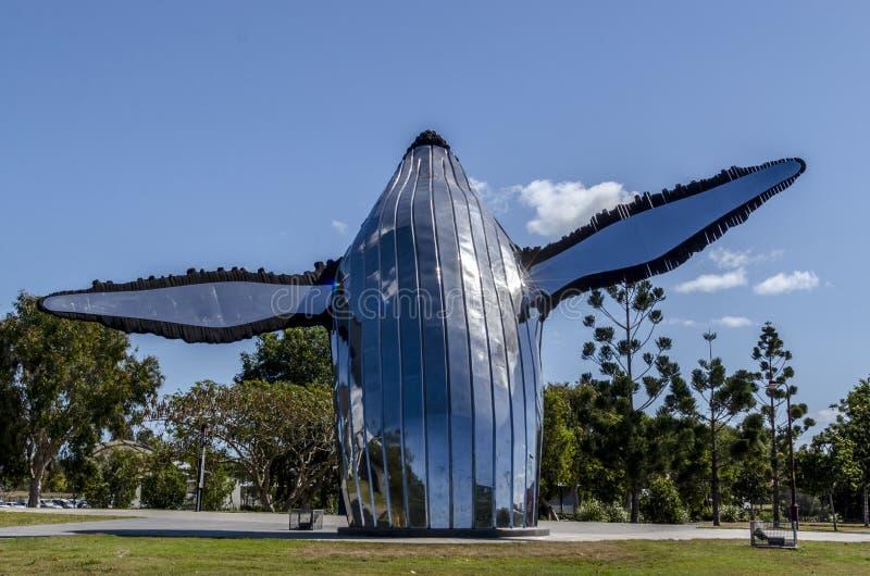 Sculpture en baleine de Hervey Bay photographie stock