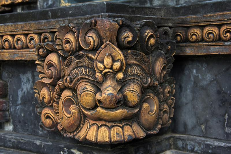 Sculpture en Balinese de visage de Dieu photo stock