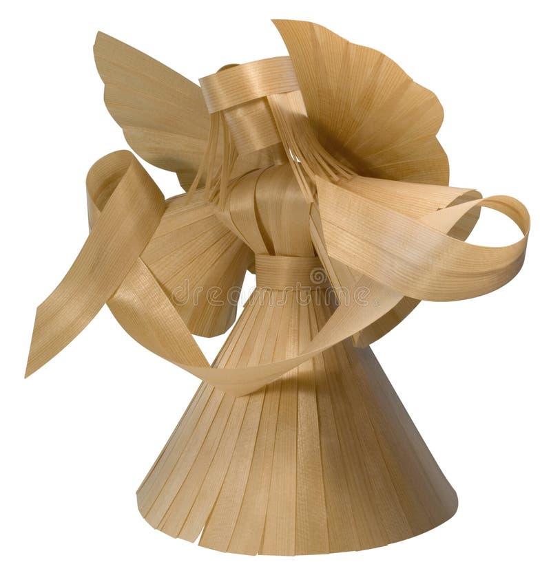 sculpture en bois en ange image stock image du messager 34221929. Black Bedroom Furniture Sets. Home Design Ideas