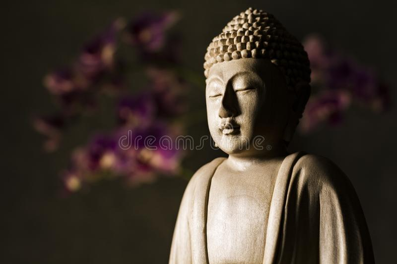 Sculpture en Bouddha photographie stock libre de droits