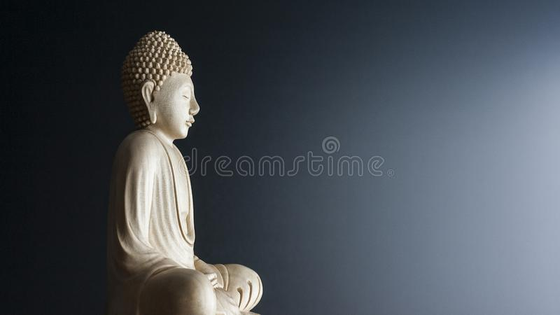Sculpture en Bouddha photographie stock