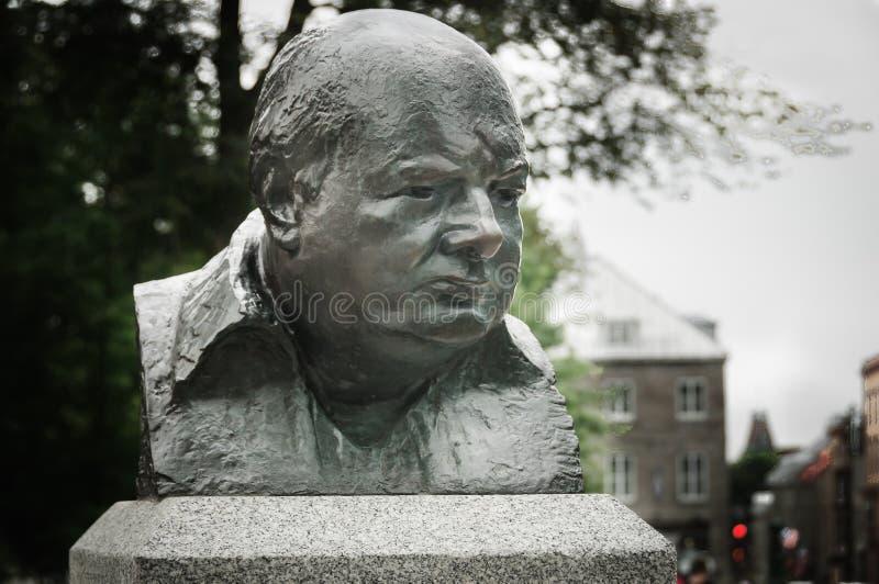 Sculpture en bronze en Winston Churchill photos stock