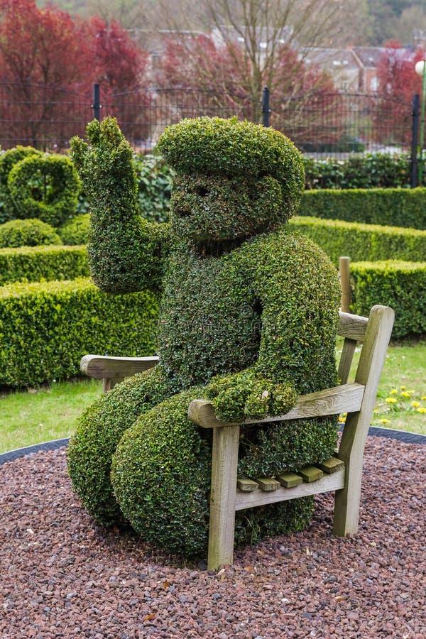 Sculpture en Bush en parc - Durbuy Belgique photo libre de droits