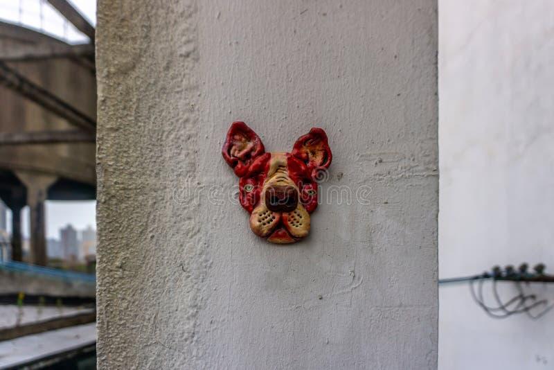 Sculpture en chien de Changhaï photos stock