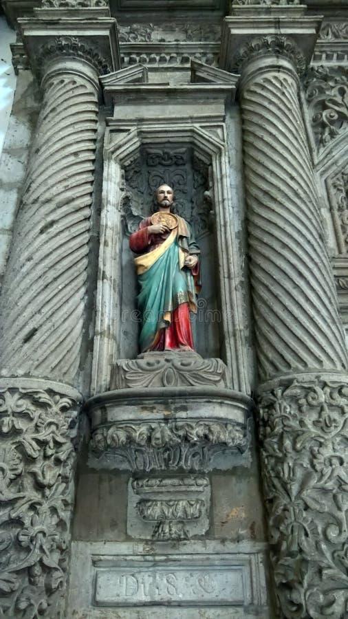 Sculpture en christianisme à Mexico photographie stock libre de droits