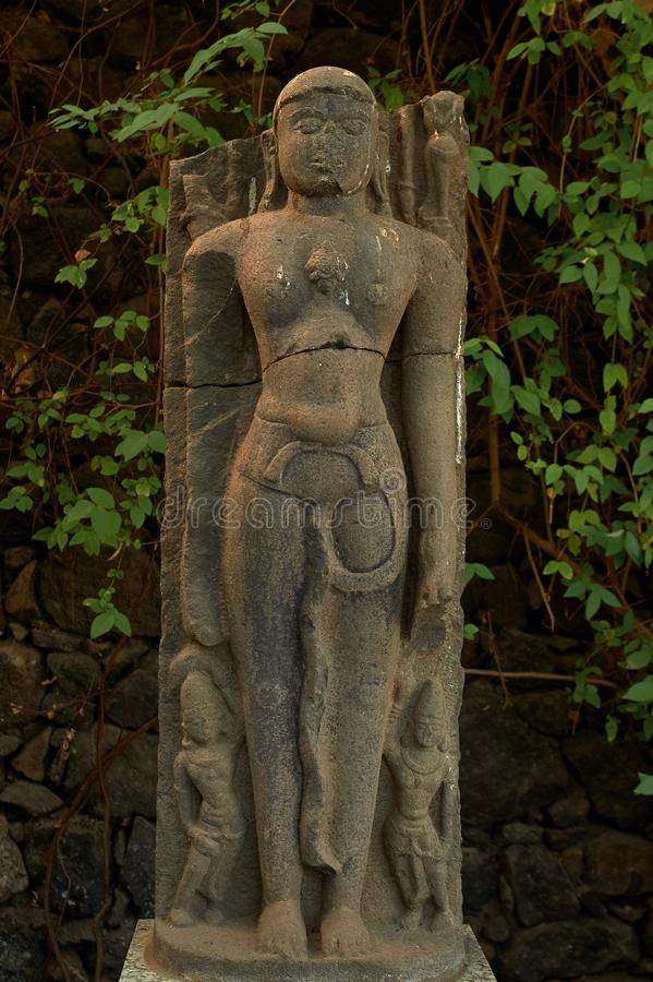 Sculpture en dehors de fort de Daulatabad de musée, Aurangabad, maharashtra, Inde photographie stock libre de droits