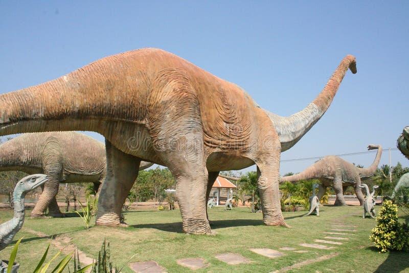 Sculpture en dinosaure photo stock